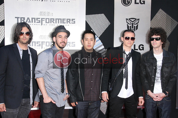Linkin Park<br />at the Los Angeles Premiere of 'Transformers Revenge of the Fallen'. Mann Village Theatre, Westwood, CA. 06-22-09<br />Dave Edwards/DailyCeleb.com 818-249-4998