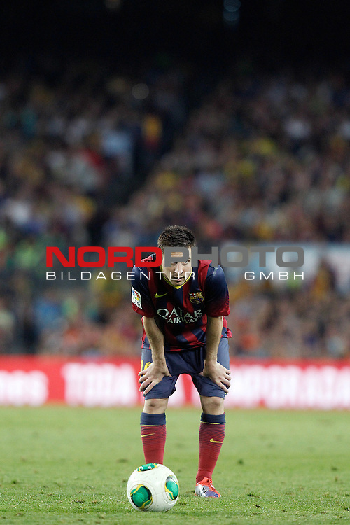 FC Barcelona's Leo Messi during Supercup of Spain 2nd match.August 28,2013. Foto © nph / Acero)