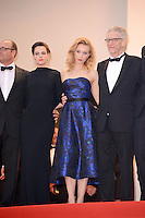 """Sarah Gadon and David Cronenberg attending the """"Cosmopolis"""" Premiere during the 65th annual International Cannes Film Festival in Cannes, France, 25.05.2012...Credit: Timm/face to face /MediaPunch Inc. ***FOR USA ONLY***"""