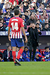 Club Atletico de Madrid's Rodrigo Hernandez and coach Diego Pablo Cholo Simeone during La Liga match. December,8,2018. (ALTERPHOTOS/Alconada)