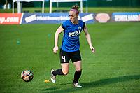 Kansas City, MO - Thursday August 10, 2017: Becky Sauerbrunn during a regular season National Women's Soccer League (NWSL) match between FC Kansas City and the North Carolina Courage at Children's Mercy Victory Field.