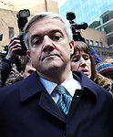 Chris Huhne and Carina Trimmingham, his partner,  leave at Southwark Crown Court today 4.2.13..He pleaded guilty and resigned today..He walks out to tell the press he is resigning...She and her former husband MP Chris Huhne are charged with perverting the course of justice....Vasiliki Pryce, née Courmouzis, is an economist, and former Joint Head of the United Kingdom's Government Economic Service......Pic by Gavin Rodgers/Pixel 8000 Ltd