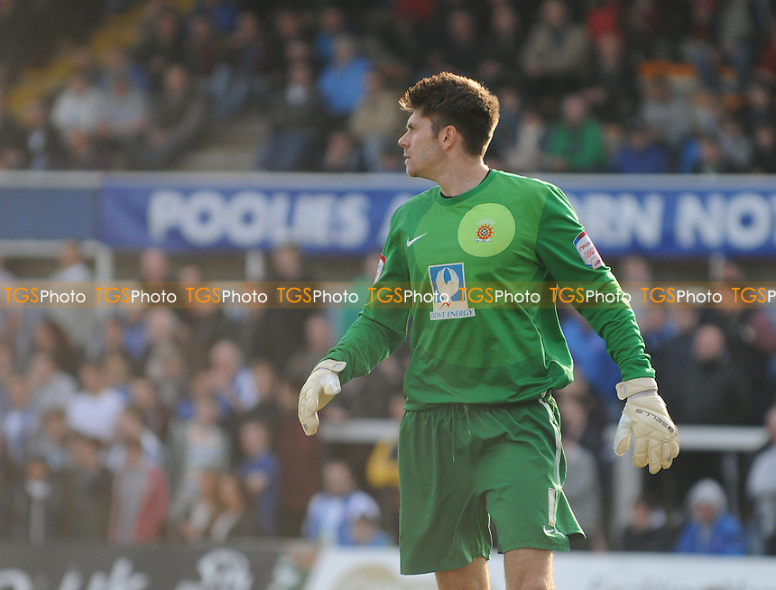 Hartlepool United goalkeeper Scott Flinders - Hartlepool United vs Brentford - NPower League One Football at Victoria Park, Hartlepool - 20/04/13 - MANDATORY CREDIT: Steven White/TGSPHOTO - Self billing applies where appropriate - 0845 094 6026 - contact@tgsphoto.co.uk - NO UNPAID USE