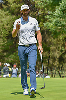 Dustin Johnson (USA) after sinking his putt on 11 during round 1 of the World Golf Championships, Mexico, Club De Golf Chapultepec, Mexico City, Mexico. 3/1/2018.<br /> Picture: Golffile | Ken Murray<br /> <br /> <br /> All photo usage must carry mandatory copyright credit (&copy; Golffile | Ken Murray)