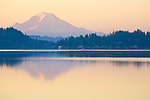 Mount Rainier, sunrise, Puget Sound, Silverdale, Washington State, Pacific Northwest, Seattle area, Deas Inlet,