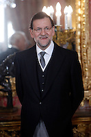 Prime Minister of Spain Mariano Rajoy attends the reception of the diplomatic corps in Spain at Palacio Real. January 23, 2013. (ALTERPHOTOS/Caro Marin) /NortePhoto