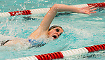 NAUGATUCK ,  CT-101019JS12- Seymour's Sophia Velleco competes in the 100 Yard Freestyle during their meet with Naugatuck Friday at Naugatuck High School. <br /> Jim Shannon Republican-American