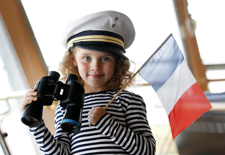 No Repro Fee.....Today 03/04/2011.Robyn Kelly, age 6 from Cork, pictured here onboard the luxurious Pont-Aven Cruise ship launching the new sailing season for Brittany Ferries which sails between Cork and Roscoff, France from now until Saturday 29th of October. Pic. Corporate PR Photography.