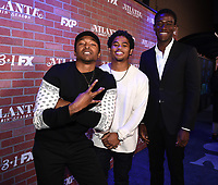 "LOS ANGELES - FEBRUARY 19: Malcolm Mays, Isaiah John, and Damson Idris arrives at the red carpet event for FX's ""Atlanta Robbin' Season"" at the Ace Theatre on February 19, 2018 in Los Angeles, California.(Photo by Frank Micelotta/FX/PictureGroup)"