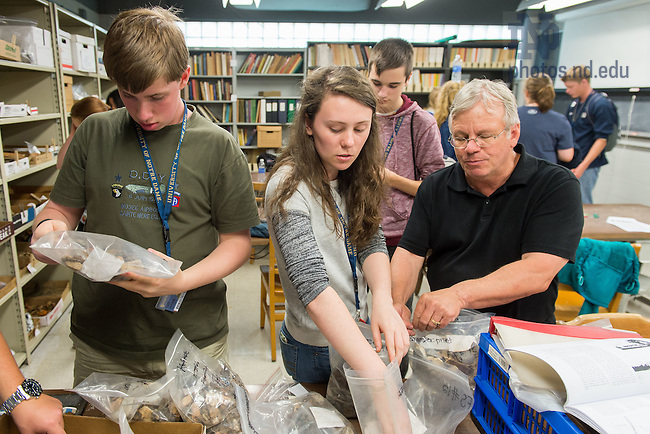 Jul. 7, 2015; Pre-College Program, archaeology/anthropology class. (Photo by Matt Cashore/University of Notre Dame)