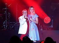 Nino D'Angelo festeggia i suoi 60 anni con un concerto nello stadio San Paolo di Napoli<br /> nella foto con Serena Autieri