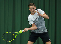 Rotterdam, The Netherlands, March 11, 2016,  TV Victoria, NOJK 12/16 years, Maarten Zwanen (NED)<br /> Photo: Tennisimages/Henk Koster