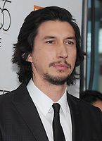 NEW YORK, NY - OCTOBER 01: Adam Driver attends the New York Film Festival screening of The Meyerowitz Stories (New and Selected) at Alice Tully Hall on October 1, 2017 in New York City. <br /> CAP/MPI/JP<br /> &copy;JP/MPI/Capital Pictures