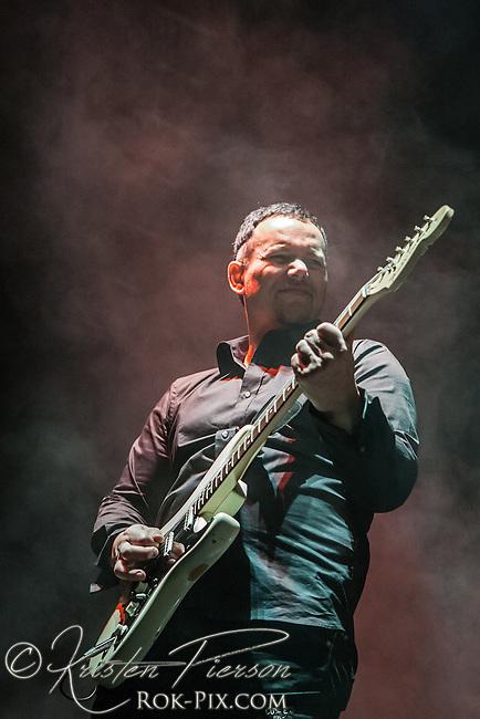Volbeat perform at Mohegan Sun Arena on January 27, 2012 on the Gigantour 2012 Tour.