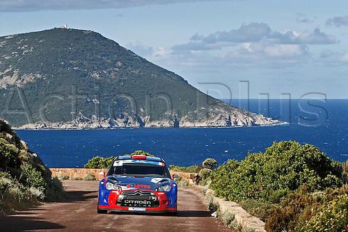 17.05.2013. Corsica.   Robert Kubica POL Maciek Baran POL Citroen DS3 RRC Automobiles Rally Tour de Corse , Rallye de France.