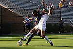 06 September 2013: West Virginia's Kadeisha Buchanan (88) and Duke's Kim DeCesare (19). The Duke University Blue Devils hosted the West Virginia University Mountaineers at Koskinen Stadium in Durham, NC in a 2013 NCAA Division I Women's Soccer match. The game ended in a 1-1 tie after two overtimes.