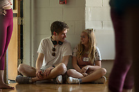 Eighth Grade (2018)   <br /> Bo Burnham and Elsie Fisher  <br /> *Filmstill - Editorial Use Only*<br /> CAP/MFS<br /> Image supplied by Capital Pictures