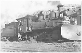 RGS 2-8-0 #41 with wedge plow at Rico.<br /> RGS  Rico, CO