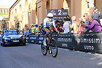 Ruben Plaza (ESP) Israel Cycling Academy on the San Luca climb during Stage 1 of the 2019 Giro d'Italia, an individual time trial running 8km from Bologna to the Sanctuary of San Luca, Bologna, Italy. 11th May 2019.<br /> Picture: Eoin Clarke | Cyclefile<br /> <br /> All photos usage must carry mandatory copyright credit (© Cyclefile | Eoin Clarke)