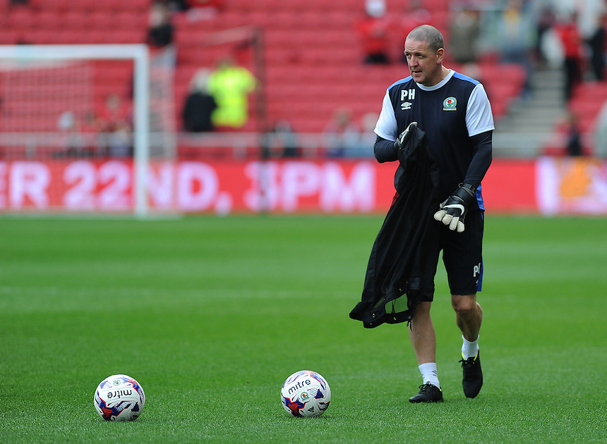 Blackburn Rovers Goalkeeping Coach Phil Hughes during the pre-match warm-up <br /> <br /> <br /> Photographer Ashley Crowden/CameraSport<br /> <br /> The EFL Sky Bet Championship - Bristol City v Blackburn Rovers - Saturday 22nd October 2016 - Ashton Gate - Bristol<br /> <br /> World Copyright &copy; 2016 CameraSport. All rights reserved. 43 Linden Ave. Countesthorpe. Leicester. England. LE8 5PG - Tel: +44 (0) 116 277 4147 - admin@camerasport.com - www.camerasport.com