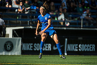 Seattle, Washington - Sunday, June 12, 2016: Seattle Reign FC midfielder Havana Solaun (19) reacts to her shot on goal during a regular season National Women's Soccer League (NWSL) match at Memorial Stadium. Seattle won 1-0.