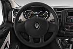 Car pictures of steering wheel view of a 2015 Renault Trafic Fourgon Extra L1H1 dCi 120 TT S&S 2.7T 4 Door Cargo Van 2WD Steering Wheel