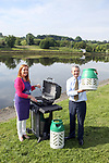 Eoin O'Flynn marketing manager of Flogas Ireland presents Margaret Meegan with a BBQ and Gas Light cylinders for the up coming Shannon regatta.<br /> Picture Jenny Matthews | Newsfile