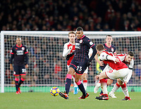 Collin Quaner of Huddersfield Town leads the counter during the Premier League match between Arsenal and Huddersfield Town at the Emirates Stadium, London, England on 29 November 2017. Photo by Carlton Myrie / PRiME Media Images.