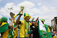 Fans aus Brasilien sind zur Eröffnung der Fußball WM angekommen und feiern als wären sie schon Weltmeister - 14.06.2018: Russland vs. Saudi Arabien, Eröffnungsspiel der WM2018, Luzhniki Stadium Moskau