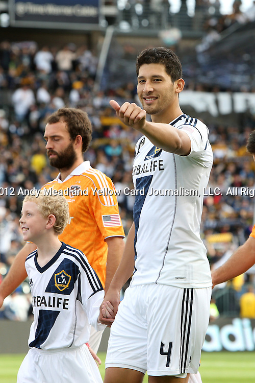 01 December 2012: Los Angeles' Omar Gonzalez. The Los Angeles Galaxy played the Houston Dynamo at the Home Depot Center in Carson, California in MLS Cup 2012. Los Angeles won the game 3-1.