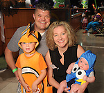 Kaycee and Scott Avery with Easton and Emerson at the Little Galleria Halloween Spooktacular presented by MD Anderson Children's Cancer Hospital at The Galleria Sunday Oct. 30,2016.(Dave Rossman photo)