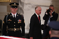 Former U.S. Vice President Dan Quayle walks past the casket of former President George H.W. Bush as it lies in state in the U.S. Capitol Rotunda in Washington, U.S., December 3, 2018. <br /> CAP/MPI/RS<br /> &copy;RS/MPI/Capital Pictures