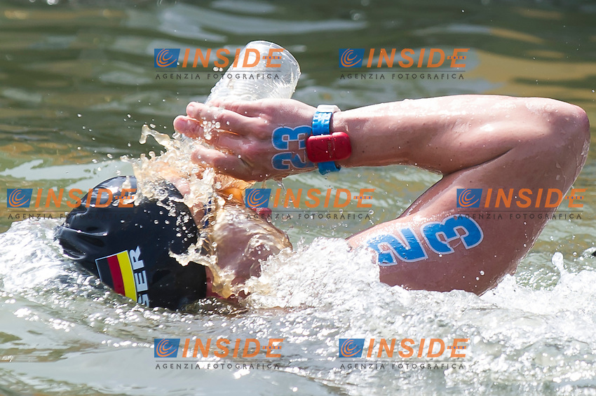 BARTELS Felix GER<br /> Hoorn, Netherlands <br /> LEN 2016 European Open Water Swimming Championships <br /> Open Water Swimming<br /> Men's 10km<br /> Day 01 10-07-2016<br /> Photo Giorgio Perottino/Deepbluemedia/Insidefoto