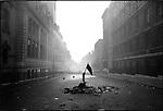 Aftermath of student riots at the Sorbonne University, rue Saint Jacques, Paris, France, June 10, 1968