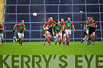 Kieran Donaghy Austin Stacks in action against Danny O'Sullivan Mid Kerry in the Kerry Senior County Football Final at Fitzgerald Stadium on Sunday.
