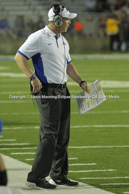 December 26, 2015: Tulsa head coach Philip Montgomery during the 2nd half of the Camping World Independence Bowl at Independence Stadium in Shreveport, LA. Justin Manning/ESW/CSM