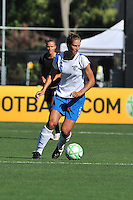 19 July 2009: Maggie Tomecka of the Boston Breakers controls the field of play during the game at Buck Shaw Stadium in Santa Clara, California.  The Boston Breakers defeated the FC Gold Pride, 1-0.