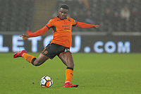 Bright Enobakhare of Wolverhampton Wanderers in action during the Emirates FA Cup match between Swansea and Wolverhampton Wanderers at the Liberty Stadium, Swansea, Wales, UK. Wednesday 17 January 2018