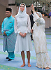 """CATHERINE, DUCHESS OF CAMBRIDGE AND PRINCE WILLIAM.visited the As Syakirin Mosque, Kuala Lumpur_14/09/2012.The Duchess covered her head with a traditional head scarf.Mandatory credit photo: ©TR Pool/DIASIMAGES..(Failure to credit will incur a surcharge of 100% of reproduction fees)..                **ALL FEES PAYABLE TO: """"NEWSPIX INTERNATIONAL""""**..IMMEDIATE CONFIRMATION OF USAGE REQUIRED:.DiasImages, 31a Chinnery Hill, Bishop's Stortford, ENGLAND CM23 3PS.Tel:+441279 324672  ; Fax: +441279656877.Mobile:  07775681153.e-mail: info@newspixinternational.co.uk"""