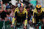 Tony Martin (GER) and Team Jumbo-Visma in action during Stage 1 of La Vuelta 2019, a team time trial running 13.4km from Salinas de Torrevieja to Torrevieja, Spain. 24th August 2019.<br /> Picture: Colin Flockton | Cyclefile<br /> <br /> All photos usage must carry mandatory copyright credit (© Cyclefile | Colin Flockton)