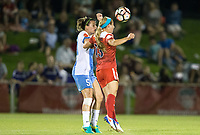 Boyds, MD - Saturday April 29, 2017: Cari Roccaro, Crystal Thomas during a regular season National Women's Soccer League (NWSL) match between the Washington Spirit and the Houston Dash at Maureen Hendricks Field, Maryland SoccerPlex. The Dash won 1-0.
