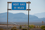 Next Gas 111 Miles, central Nevada.