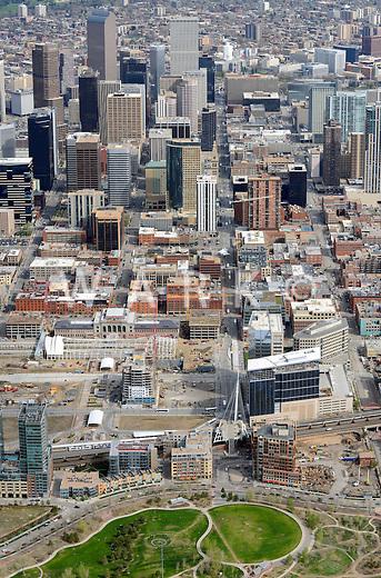 Downtown Denver aerial