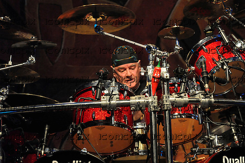 Saxon - drummer Nigel Glockler performing live on the 30th Anniversary Tour at Koko in London - 08 Nov 2009 - Photo by: George chin