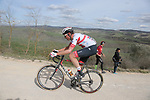 Norwegian National Champion Vegard Stake Laengen (NOR) UAE Team Emirates on sector 8 Monte Santa Maria during Strade Bianche 2019 running 184km from Siena to Siena, held over the white gravel roads of Tuscany, Italy. 9th March 2019.<br /> Picture: Eoin Clarke | Cyclefile<br /> <br /> <br /> All photos usage must carry mandatory copyright credit (&copy; Cyclefile | Eoin Clarke)