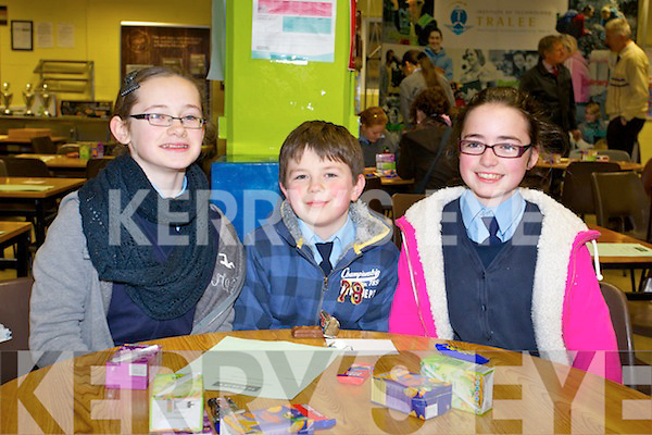 Students from Ardfert National School, who took part in the Primary School's Quiz on Thursday evening in the IT South Campus were l-r: Ciara McCarthy, Rory Dowling and Claudia Murphy..