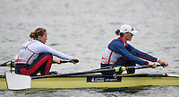 Caversham. Berkshire. UK<br /> GBR W2-. Bow, Helen GLOVER and Heather STANNING.<br /> 2016 GBRowing European Team Announcement,  <br /> <br /> Wednesday  06/04/2016 <br /> <br /> [Mandatory Credit; Peter SPURRIER/Intersport-images]