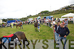 Action from the Parade ring at the Cahersiveen Races on Sunday.