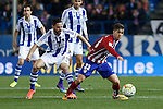 Atletico de Madrid´s Vietto and Real Sociedad´s Alberto de la Bella during 2015-16 La Liga match between Atletico de Madrid and Real Sociedad at Vicente Calderon stadium in Madrid, Spain. March 01, 2016. (ALTERPHOTOS/Victor Blanco)