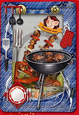 Isabella, MODERN, MODERNO, paintings+++++,ITKE032337C-NOTES,#n# bbq,barbeque ,everyday